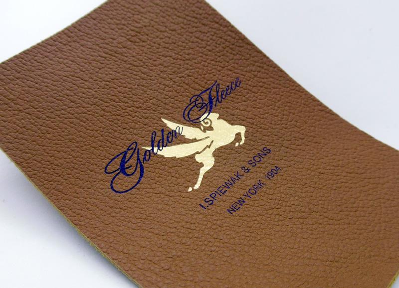 leather label foil