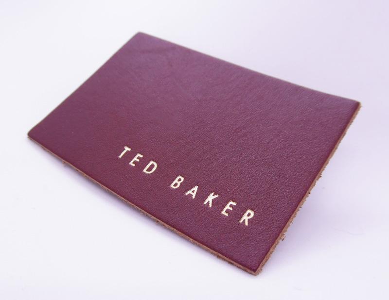 leather label foil block