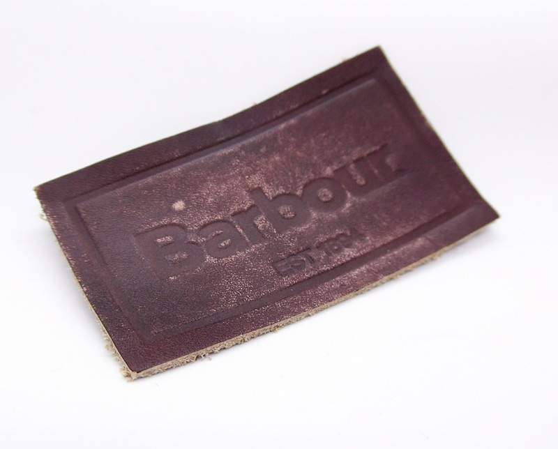 leather label distressing
